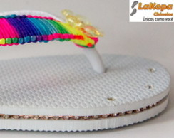 CHINELO DECORADO COM MACRAM�