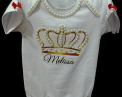 Body Infantil customizados com p�rolas