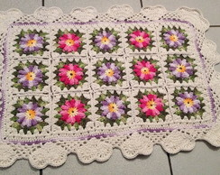 Tapete 15 flores - Croch�