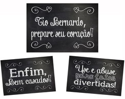 Kit - 3 Placas Entrada Pagens e Damas