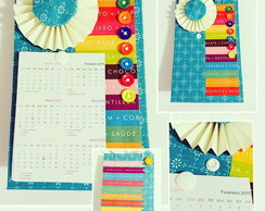 Calend�rio Scrapbook - Colors