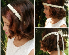 Headband de p�rolas OFF WHITE DAMINHA