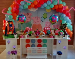 Mesa decorada Peppa Decorada