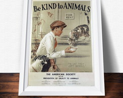 P�ster Be Kind to Animals