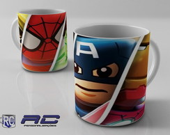 Caneca Marvel Lego Her�is