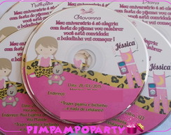 Convite CD Oncinha Pink