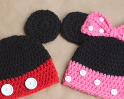 Touca mickey e minnie para beb�s
