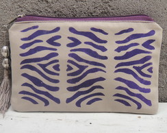 Clutch Mini Zebra Roxa