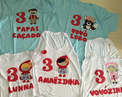 Kit Fam�lia CAMISETAS ANIVERS�RIO