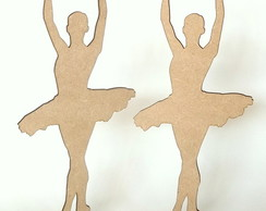 Kit 30 bailarinas 25cm mdf cru com base