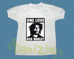 T-Shirt Beb� e Infantil BOB MARLEY