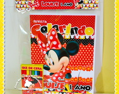 Kit Colorir Minnie Mouse vermelha