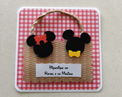 Convite Piquenique Minnie e Mickey