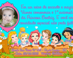 Convite Digital Princesas Baby Disney