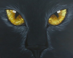 Pintura The Look Black Cat