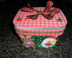 Pote de sorvete decorado noel