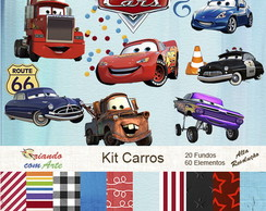 Kit Scrap Digital - Carros