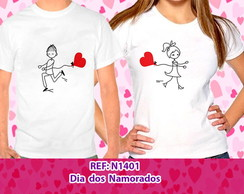 Camiseta Dia dos Namorados Cartoon 1401