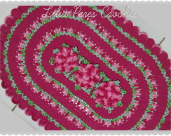 Tapete Oval multicolor flores