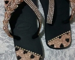 Havaianas customizada manta de strass121