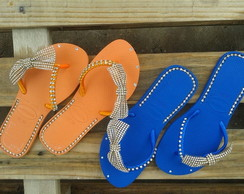Havaianas customizada manta de strass128