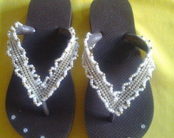 Havaianas customizada manta de strass145