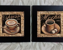 Kit Quadros Decorativos Coffe