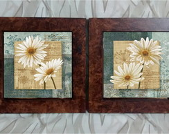 Kit Quadros Decorativos Flores