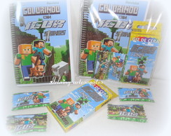 Kit colorir Minecraft 15x10,5