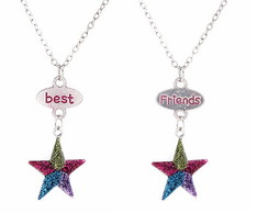 Colar Best Friends Estrelas 2 pe�as