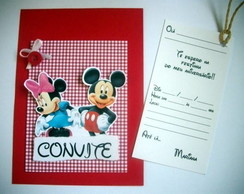 CONVITE SCRAPBOOK - MINNIE & MICKEY
