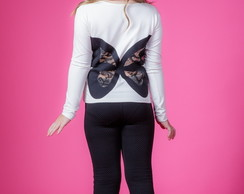 BLUSA BUTTERFLY (INFANTIL) - OFF WHITE