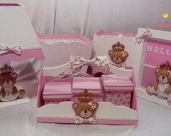 Kit Bebe Princesa Ursa - 8 pe�as