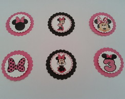 Tags e Topers Minnie Rosa 3D