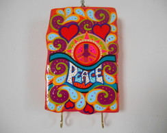 PAC GR�TIS! porta chaves Hippie Peace