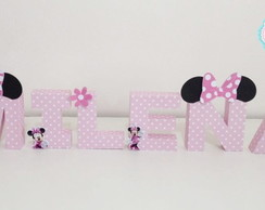 Letras 3D Papel Minnie Rosa