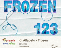 Scrap Digital - Alfabeto Frozen