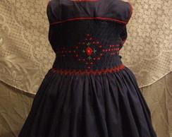 Vestido Azul Marinho Casinha de Abelha