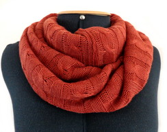 Gola Cachecol Trico Infinity Scarf