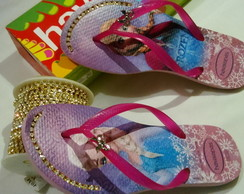 chinelo havaianas customizado c, estrass