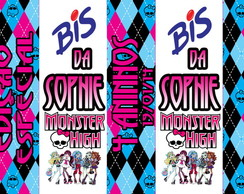 R�tulo Chocolate Bis Monster High