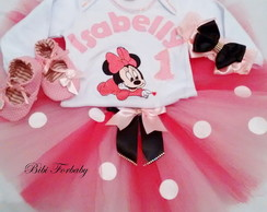 Kit Festa fantasia Minnie Baby Rosa