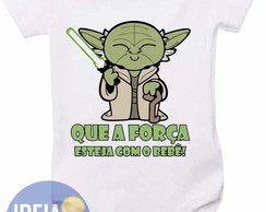 Body infantil - Mestre Yoda - Star Wars