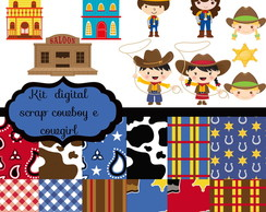 Kit de scrap digital cowboy