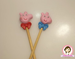 Palito marshmallow Peppa em biscuit