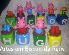 Cubos decorados Peppa Pig