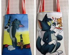 Bolsa dupla face Tom e Jerry