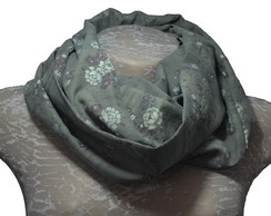Infinity Scarf Flores Verde