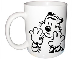 Caneca Calvin and Hobbes