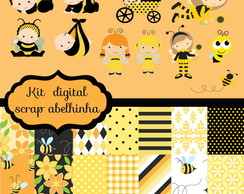 Kit de scrap digital Abelhinha